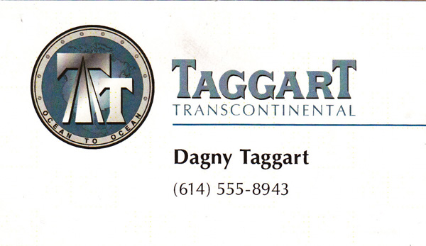 Photo of Dagny Taggart business card