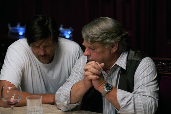 Photo of Graham Beckel with director Paul Johansson